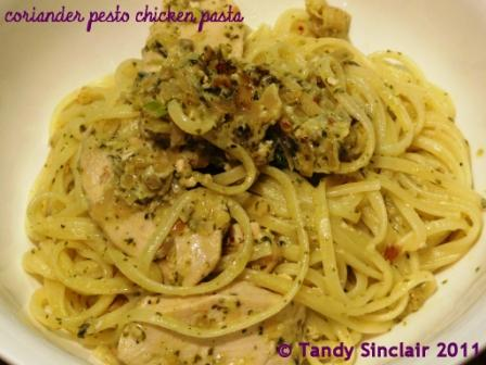 """Coriander Pesto Chicken Pasta"""