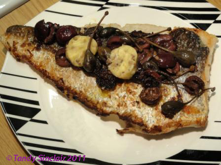 Hake With Anchovy Butter Olives And Caper Berries Recipe For Hake With Anchovy Butter