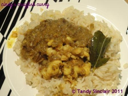 """Cindy's Crayfish Curry"""