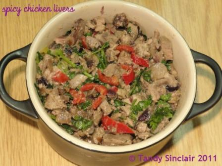 """spicy chicken livers"""