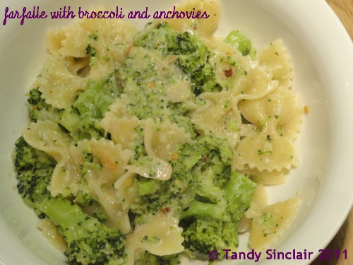 """""""Farfalle With Broccoli And Anchovies"""""""