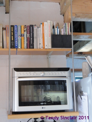 lg oven on shelf suspended from ceiling In My Kitchen February 2012