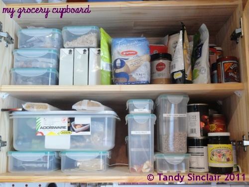 """my grocery cupboard"""