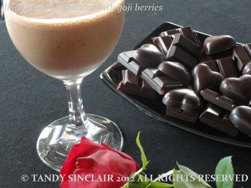 handmade chocolates with goji berries