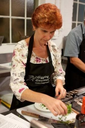 I am really concentrating! - image courtesy of livewired Canderel Food Bloggers Event