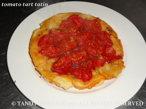 tomato tart tatin for The Savoury Tart Challenge Round Up