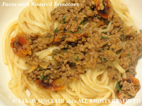 Pasta with Roasted Tomatoes Recipe For Pasta with Roasted Tomatoes