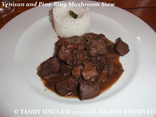 """Venison and Pine-Ring Mushroom Stew"""