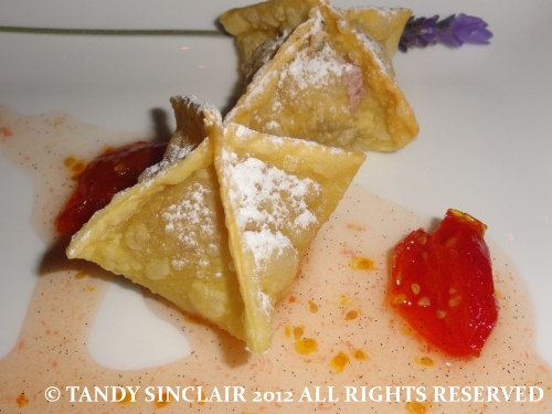 © goats cheese wontons Expressions Of Robertson And Tulbagh, The Taj Hotel, Cape Town