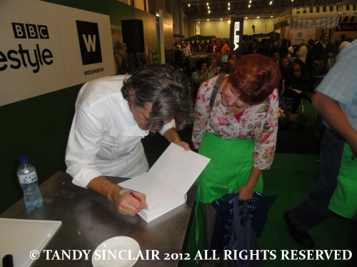 © my book being signed Review: Good Food and Wine Show: Hands On Workshop with Giorgio Locatelli