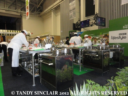 """the kitchen at the good food and wine show"""