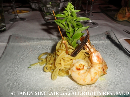 © vanilla prawn pasta Expressions Of Robertson And Tulbagh, The Taj Hotel, Cape Town