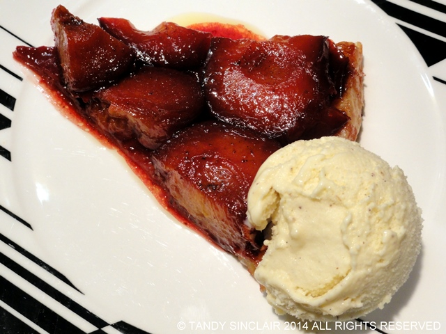 """Plum Tart Tatin With Champagne Ice Cream"""