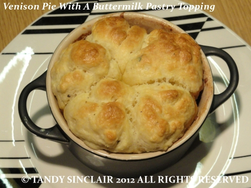 Venison Pie With A Buttermilk Pastry Topping Venison Pie With A Buttermilk Pastry Topping Recipe