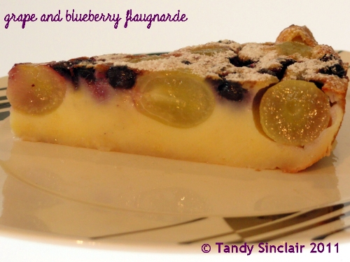 """Grape And Blueberry Flaugnarde"""