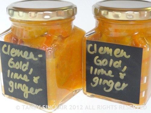 """ClemenGold, Lime And Ginger Marmalade"""