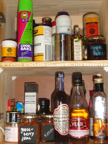  my condiment cupboard In My Kitchen   September 2012