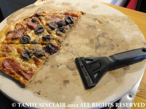  pizza stone with glass scraper In My Kitchen   September 2012