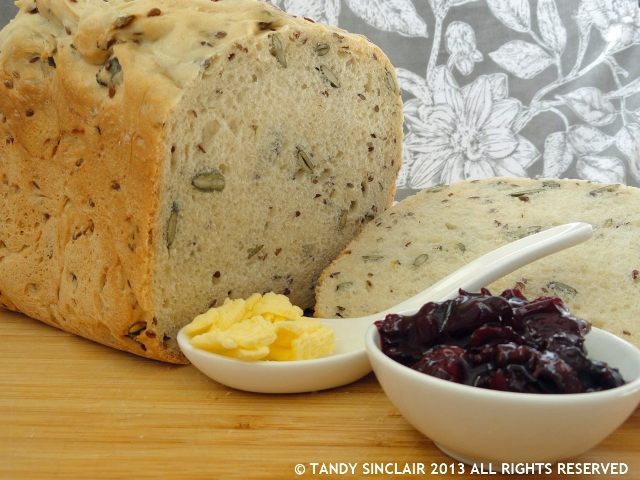 Sourdough Bread and Black Cherry & Thyme Jam