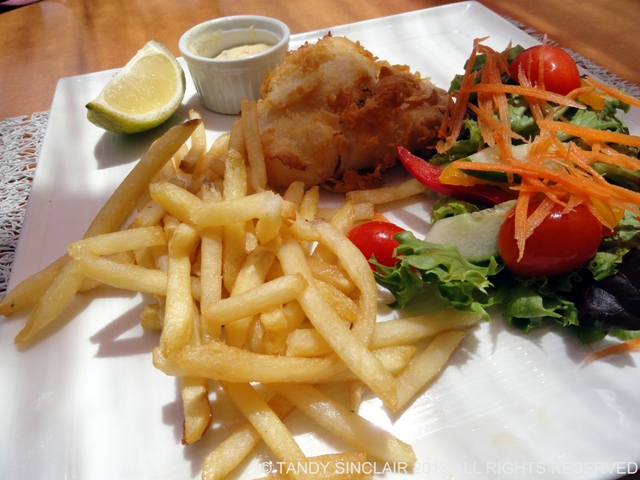 beer battered fish and chips Radish At Ons Genot, Stellenbosch