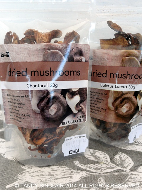 Dried Mushrooms In My Kitchen March 2014