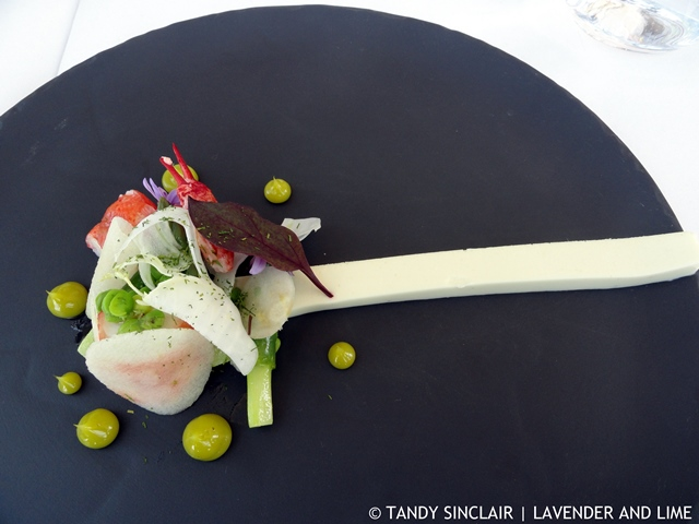 poached marron and langoustine Wine Tasting At Waterkloof