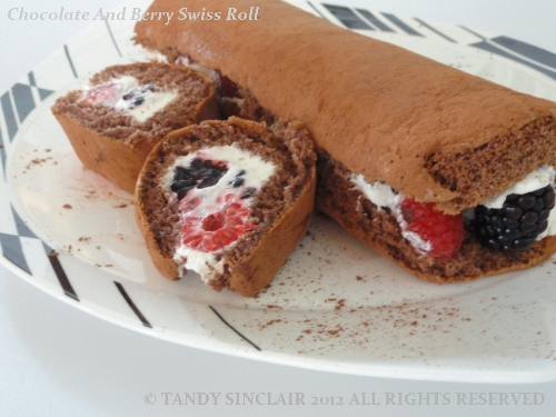"""""""Chocolate And Berry Swiss Roll"""""""