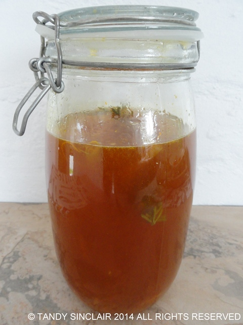 Citrus Liqueur During Fermentation