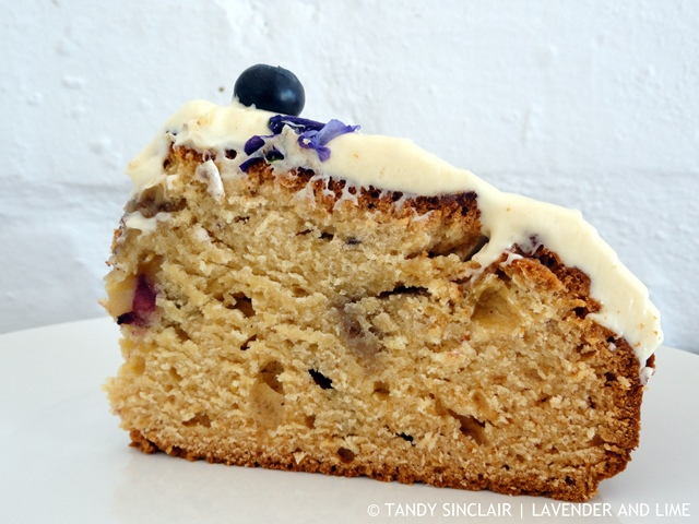 A Slice Of Blueberry Cake Recipe For Blueberry Cake