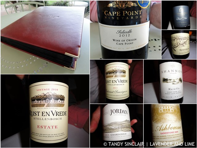 """The wines and wine list at Rust en Vrede"""