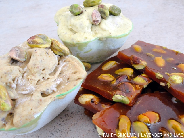"""Pistachio Gelato And Brittle"""