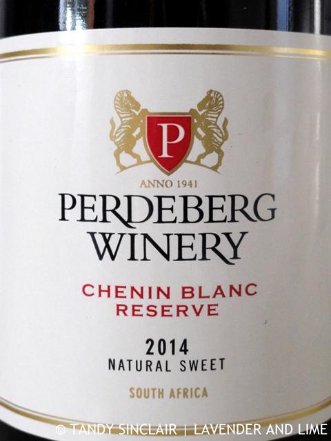 """Perdeberg Chenin Blanc Reserve Natural Sweet 2014'"