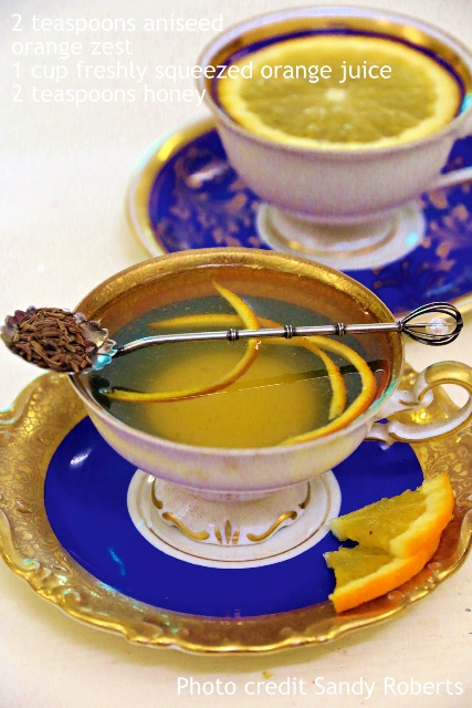 """""""Aniseed And Orange Winter Warmer - Extracted from Tea, Margaret Roberts (Struik Nature)"""""""