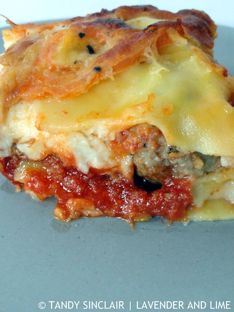 A Slice Of Meatball Lasagne