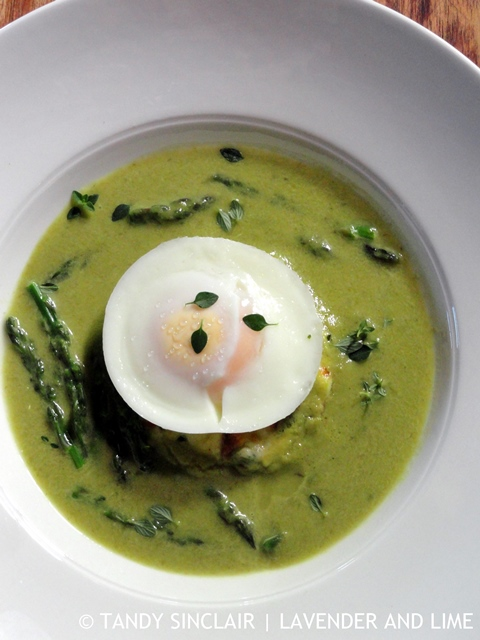 Recipe For Asparagus Soup With Poached Egg - Lavender and Lime