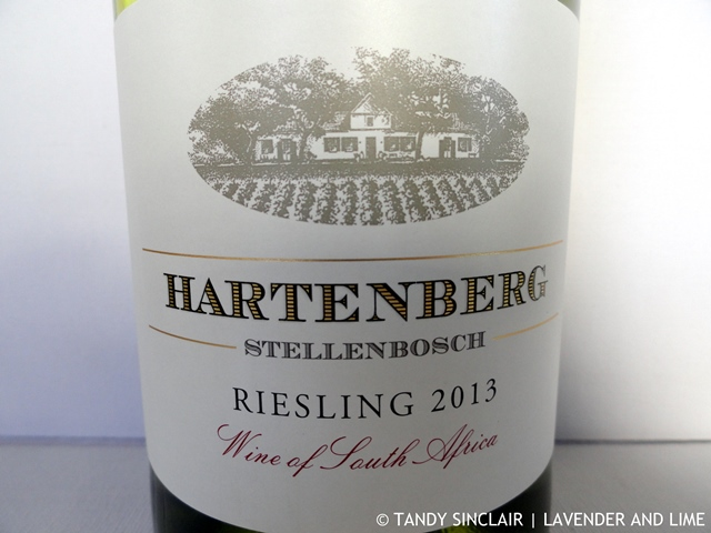 Hartenberg Riesling 2013 February 2016